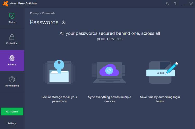 Avast Passwords Premium.