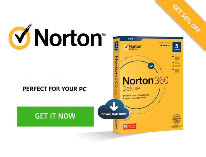 Oferta de Norton Antivirus.