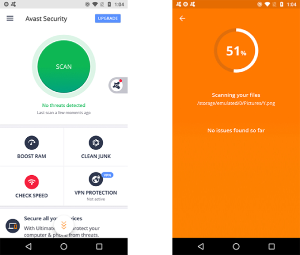 Avast Mobile Security para Android.