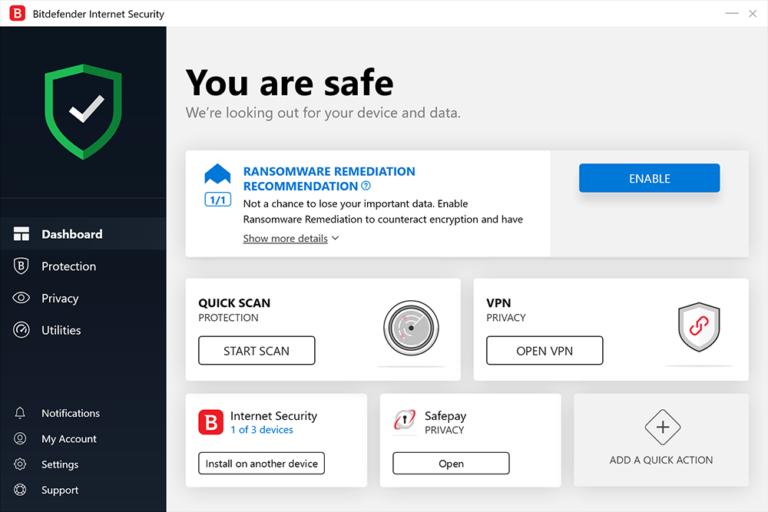 Bitdefender Internet Security 2021.