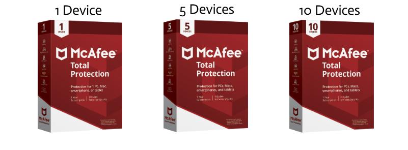Dispositivos McAfee 1-10