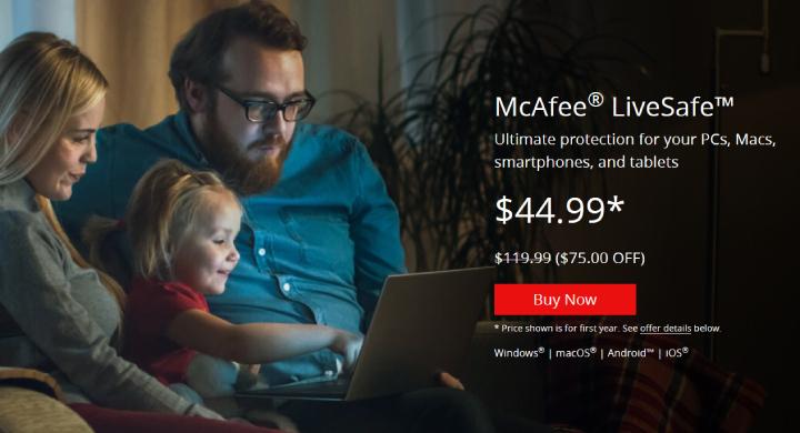 Plan McAfee LiveSafe.