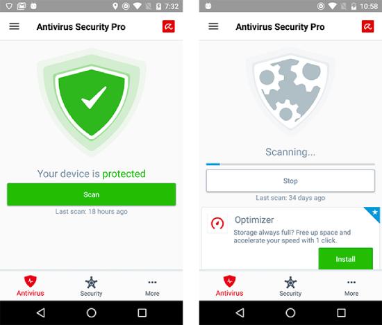 Seguridad de Avira Antivirus.