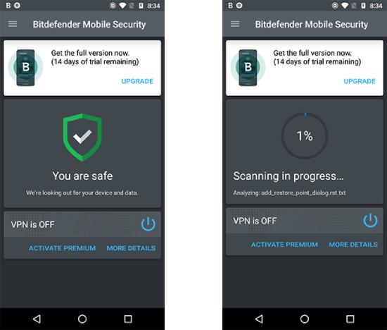 Seguridad móvil Bitdefender.