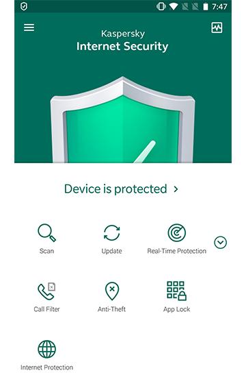 Antivirus Kaspersky para Android.