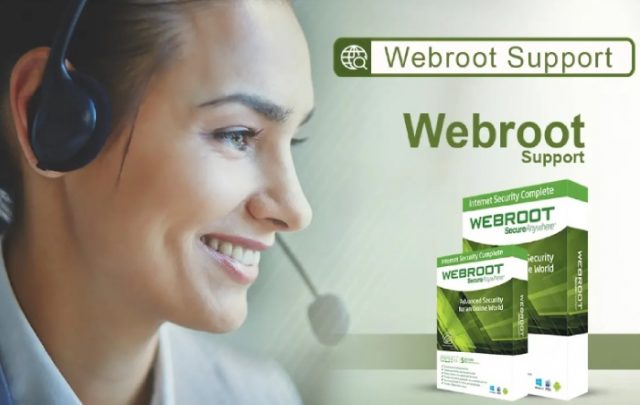 Asistencia al cliente del antivirus de Webroot.