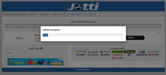 Jotti's Online Scanner