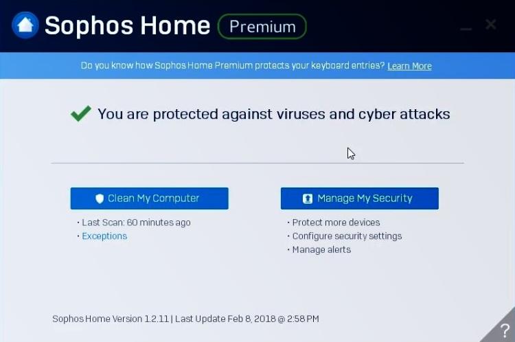 Interfaz Premium de Sophos