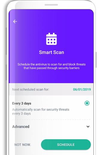 escaneo inteligente de seguridad del dfndr