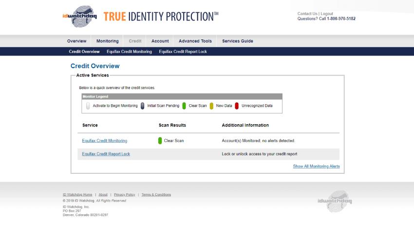 Revisión de ID Watchdog, facilidad de uso, página de inicio, la mejor protección contra el robo de identidad.