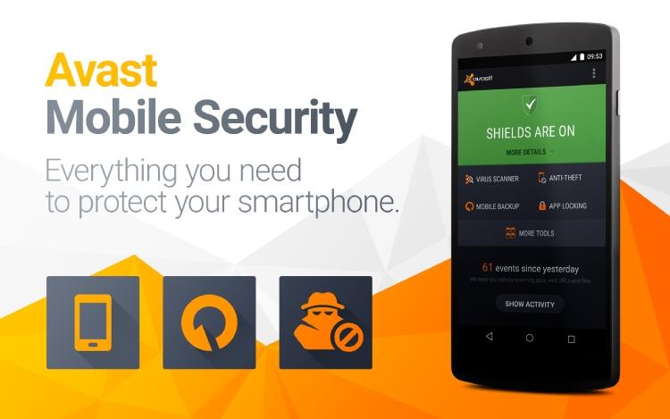 Avast Mobile Security para la revisión de Android en 2021.